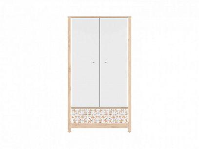TIMON šatní skříň SZF2D1S, buk iconic/bílý/koník/bílá