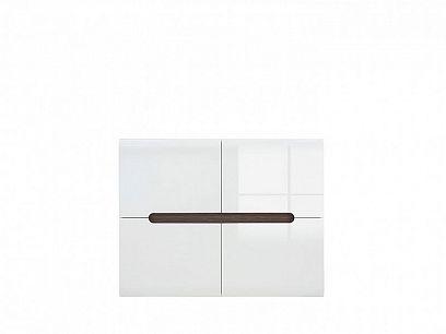 AZTECA TRIO Skříňka SFK4D/8/11, bílá/bílý lesk