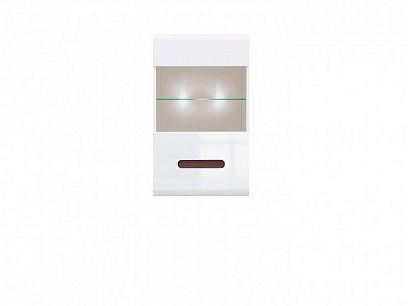 AZTECA TRIO Vitrína závěsná SFW1W/10/6, bílá/bílý lesk