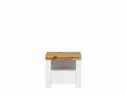 HOLTEN noční stolek KOM1S/A, bílá/dub woltan/bílý lesk