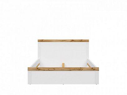 HOLTEN postel LOZ/160, bílá/dub woltan/bílý lesk