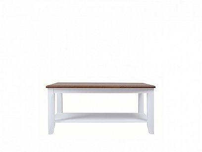 KALIO konferenční stolek LAW/110, akát zlatý/bílá
