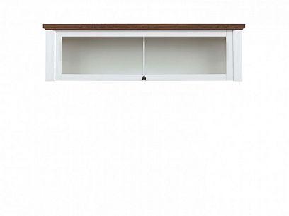 KALIO Závěsná vitrína SFW1W, bílý lesk/akát zlatý
