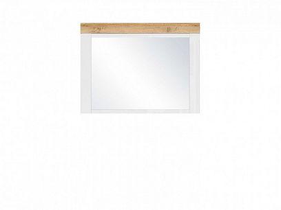 HOLTEN zrcadlo LUS, bílá/dub wotan/bílý lesk
