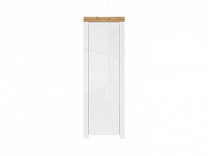 HOLTEN šatní skříň REG1D/200, bílá/dub woltan/bílý lesk