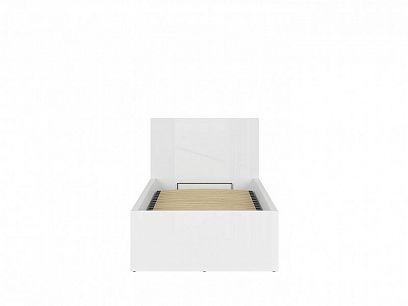 TETRIX postel s roštem LOZ/90/B bílý lesk
