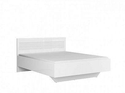 Flames postel LOZ/160/A, bílý lesk