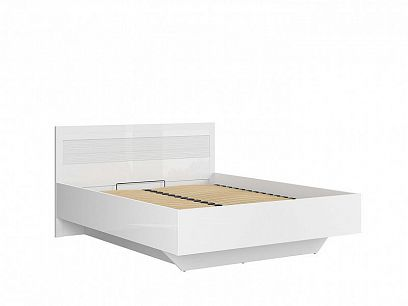 Flames postel LOZ/160/B, bílý lesk