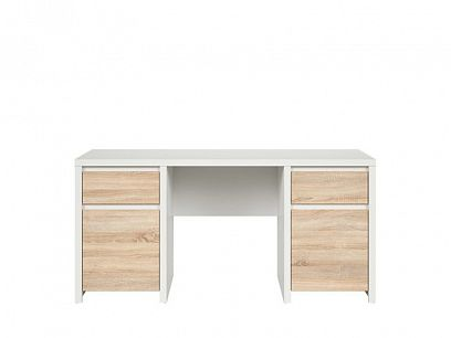 Kaspian psací stůl BIU2D2S/160, bílá/dub sonoma