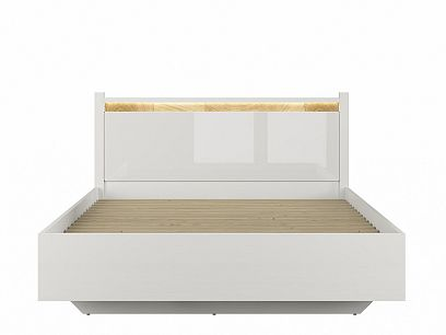 ALAMEDA postel LOZ/160 A, bílý lesk/dub westminster