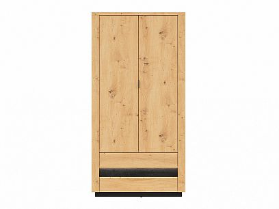 OSTIA šatní skříň SZF2D2S, dub artisan/černý dub