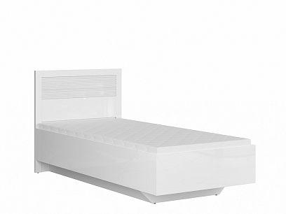 FLAMES postel LOZ/90/B, bílý lesk