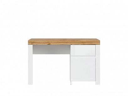 HOLTEN psací stůl BIU1D1S, bílá/dub wotan/bílý lesk