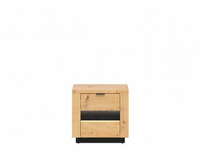 OSTIA noční stolek KOM2S, dub artisan/černý lesk