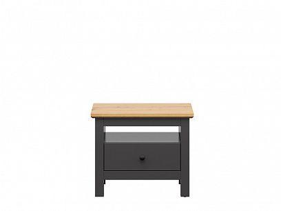 HESEN noční stolek KOM1S/5/6, grafit/dub artisan