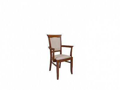 Kent jídelní židle s područkami, kaštan