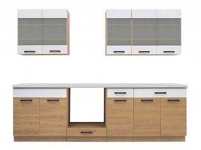 Kuchyň Semi Line 260, dub Reveal/bílá Arktická