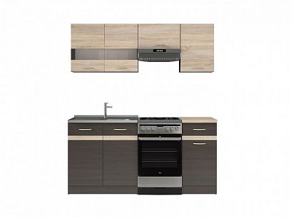 Kuchyň Junona Modul 170, wenge/dub sonoma/wenge
