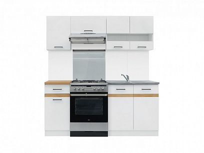 Kuchyň Junona Modul 180, bílá/bílý lesk