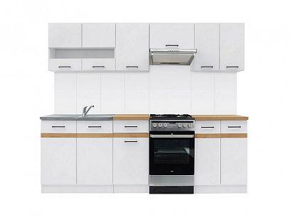 Kuchyň Junona Modul 230, bílá/ bílý lesk