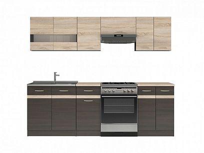 Kuchyň Junona Modul 240, Wenge/dub Sonoma/wenge