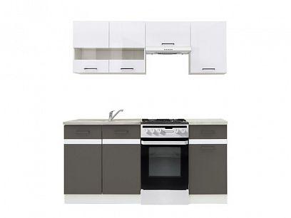 Kuchyň Junona Modul 170, bílá/bílý lesk/šedý wolfram