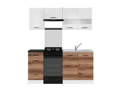 Kuchyň Junona Modul 170, bílá/bílý lesk/dub delano tmavý