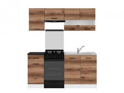Kuchyň Junona Modul 170, bílá/dub delano tmavý