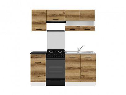 Kuchyň Junona Modul 170, bílá/dub delano světlý