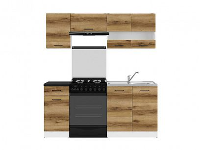 Kuchyň Junona Modul 180, bílá/dub delano světlý