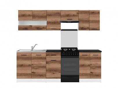Kuchyň Junona Modul 230, bílá/dub delano tmavý