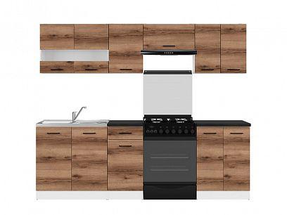 Kuchyň Junona Modul 240, bílá/dub delano tmavý