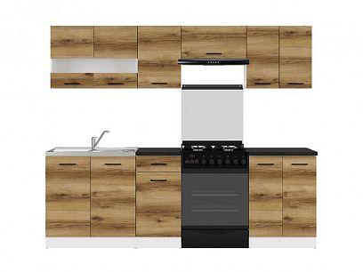 Kuchyň Junona Modul 240, bílá/dub delano světlý