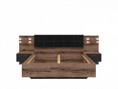 KASSEL postel LOZ/160/A, dub monastery/dub černý