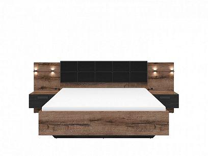KASSEL postel LOZ/160/B, dub monastery/dub černý