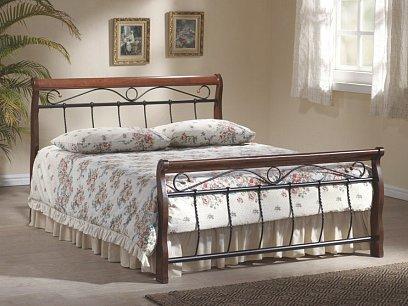 Venecia Kovová postel 180 třešeň antická