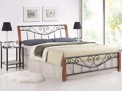 Parma Kovová postel 160 třešeň antická
