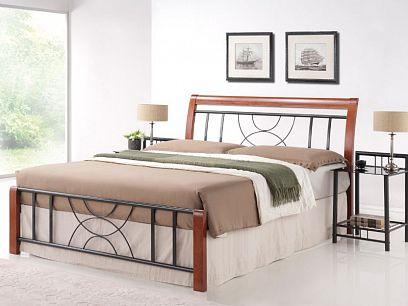 Cortina kovová postel 160, třešeň antická