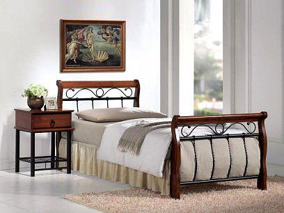 Venecia Kovová postel 90 třešeň antická