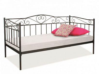 Birma Kovová postel 90, černá