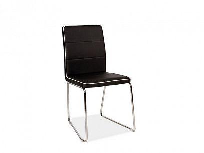 H-210 Jídelní židle, černá eko/chrom