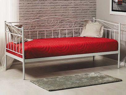 Birma Kovová postel 90, bílá