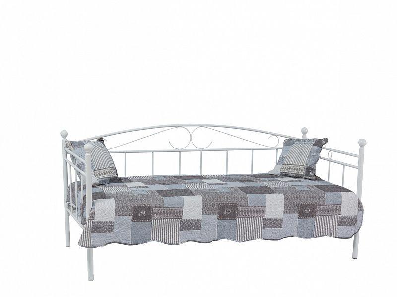 8fc26c980de9 Romantická kovová postel Ankara 90