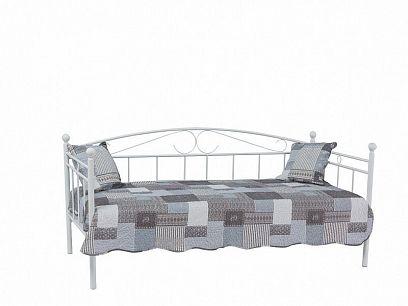 Ankara, Kovová postel 90, Bílá