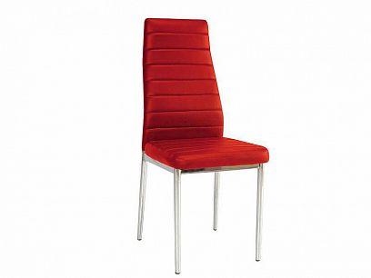 H261 Jídelní židle, červená
