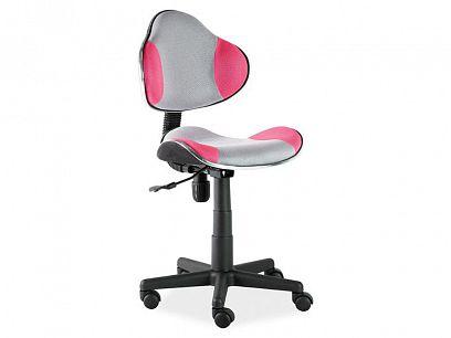 Q-G2 - kancelářská židle růžovo/šedá