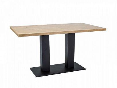 SURA 120 Jídelní stůl, masiv dub/černá