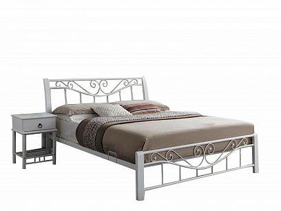 Parma Kovová postel 160 Bílá