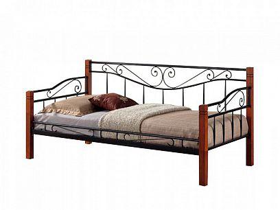Kenia Kovová postel 90 třešeň antická