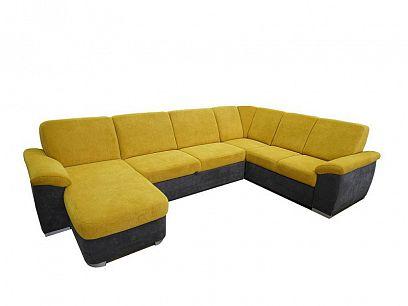 Borneo U sedací souprava, levá, šedá/žlutá